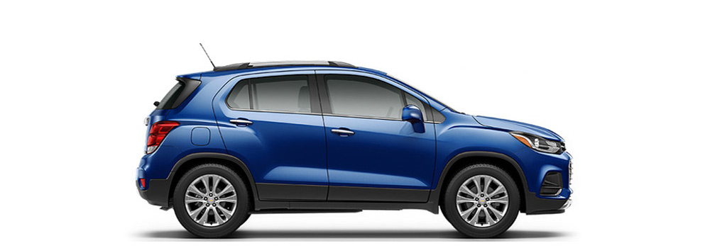 2017 Blue Chevrolet Trax side exterior view