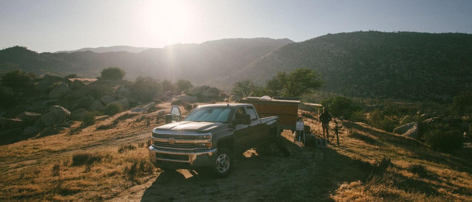 2015 Chevy Silverado 2500HD hauling a load