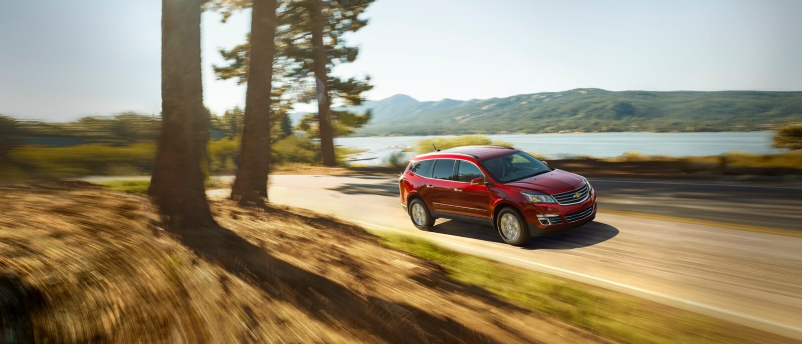 2017 Chevy Traverse red exterior