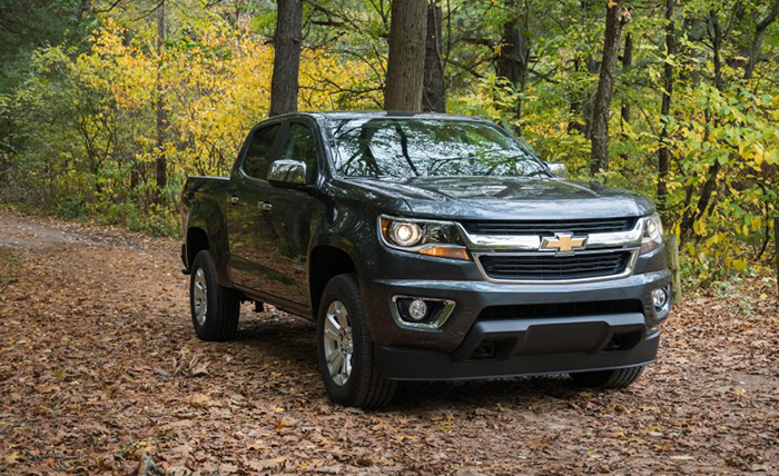 2017 Chevrolet Colorado parked in Forest