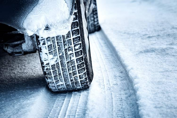 Chevrolet Vehicle Tires on Snowy Road