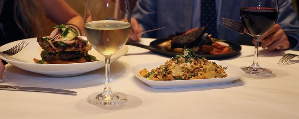 Having Dinner at a Restaurant in Glendale Heights