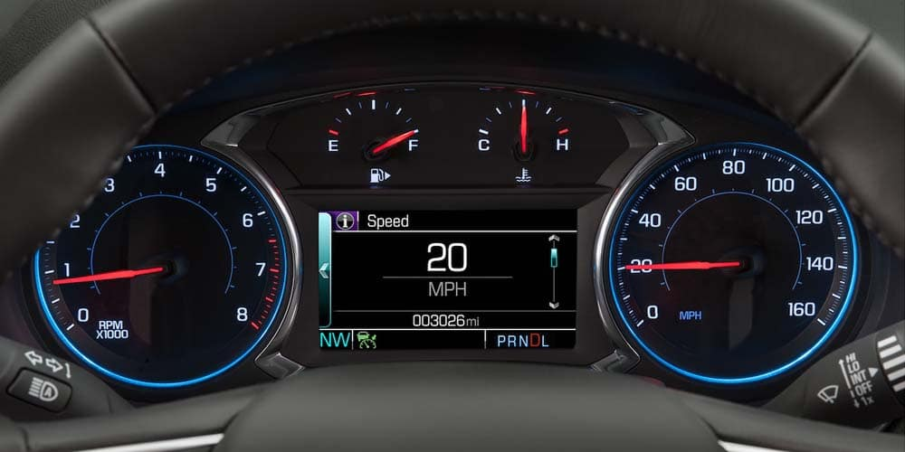 2018 Chevrolet Malibu Interior Speedometer View