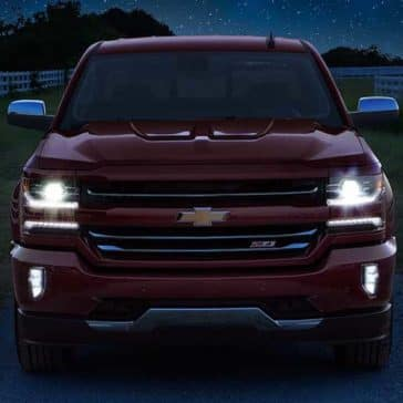2018 Red Chevy Silverado 1500 Front Exterior View