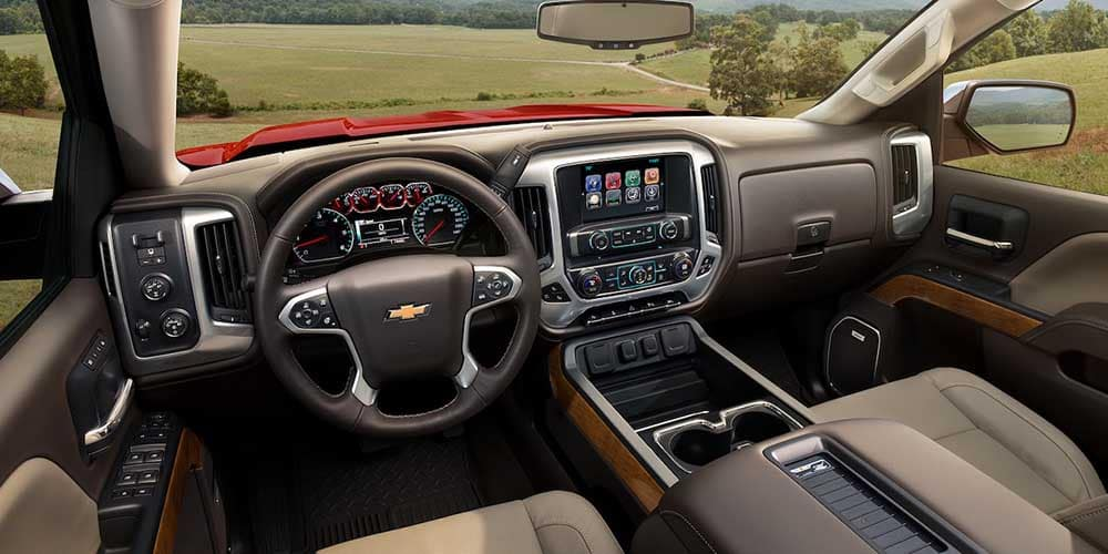 2018 Chevy Silverado 1500 Interior Dashboard View