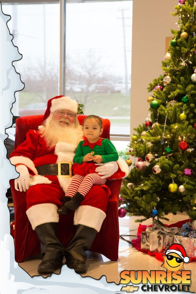 Sunrise Chevrolet Santa with Child