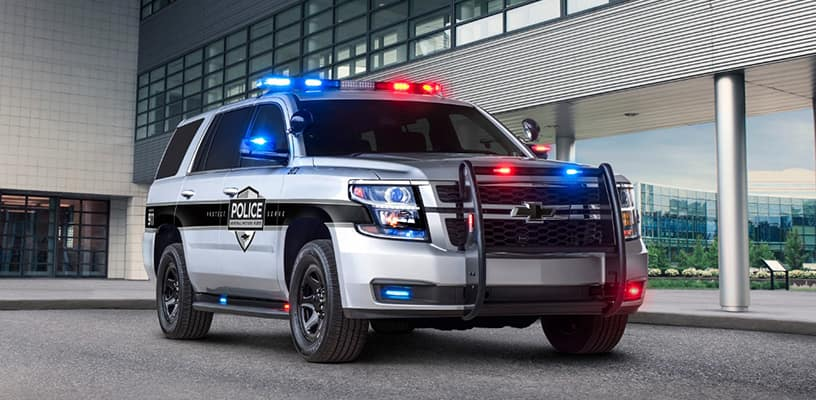 The 2018 Tahoe Police Vehicles get New Safety Features
