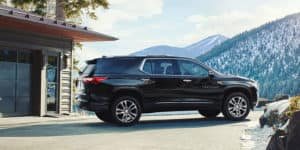 Black 2018 Chevrolet Traverse Exterior Side View