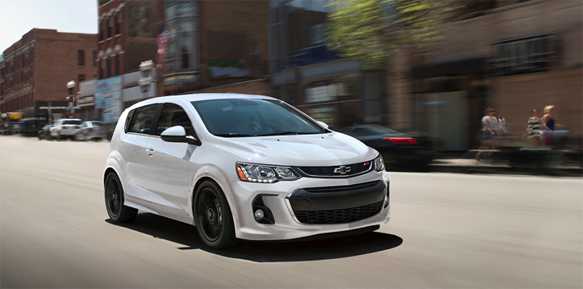 2018 White Chevrolet Sonic Exterior Front View