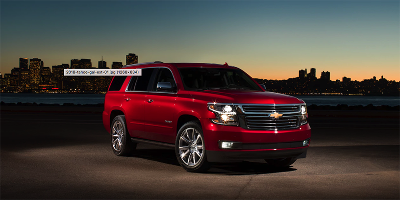 2018 Red Chevrolet Tahoe Front Exterior View