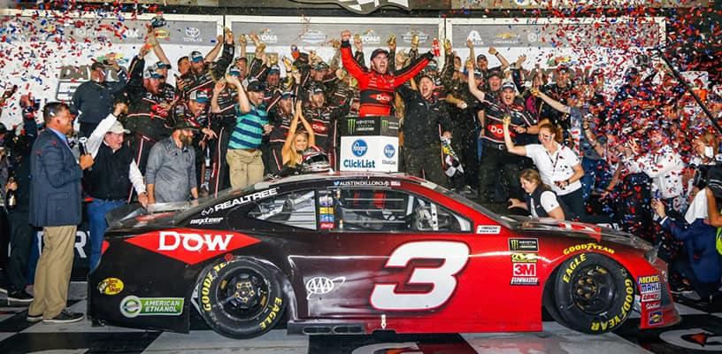 Austin Dillon Wins Daytona 500 in Chevrolet Camaro ZL1