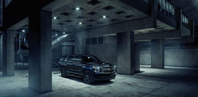 2018 Tahoe Custom LS Parked at Parking Garage