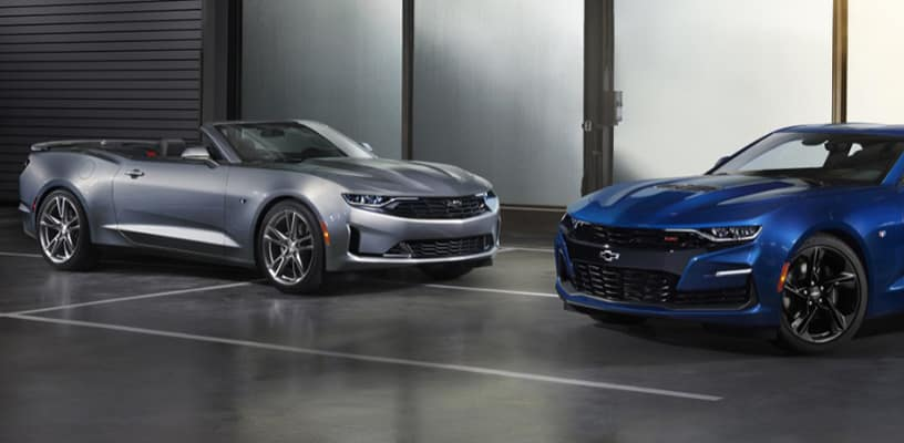 2019 Chevrolet Camaro Vehicles Parked Side by Side