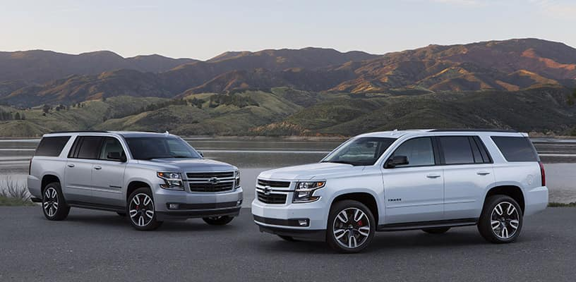 The Performance Package is available as an upgrade to the Tahoe and Suburban RST. Styling is based largely on trends in the aftermarket space - virtually all chrome trim has been eliminated for a sporty, street appearance. Customers can order the Performance Package on the Tahoe RST now, and on the Suburban RST in summer 2018.