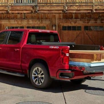 2019 Chevrolet Silverado truck bed with wood