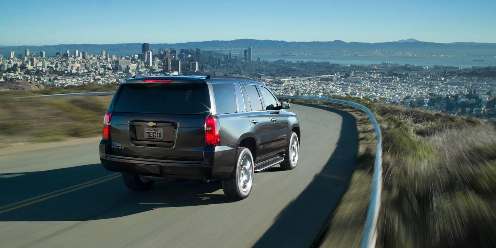 2019 Chevrolet Tahoe approaching city