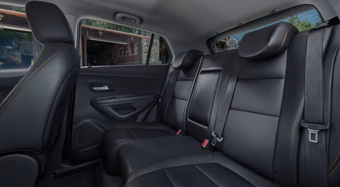 Rear seating in 2019 Chevrolet Trax