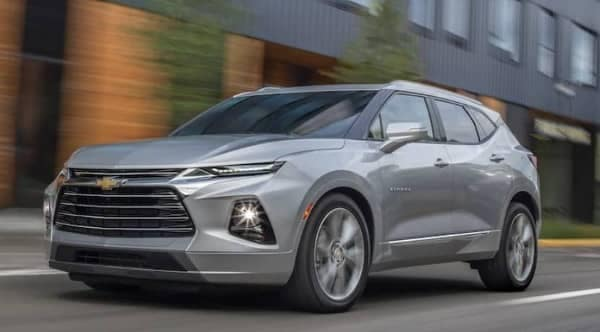 2019 Chevrolet Blazer on road