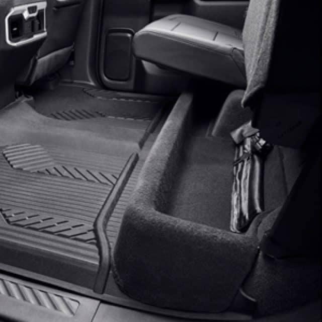 2019 Chevrolet Silverado underseat storage