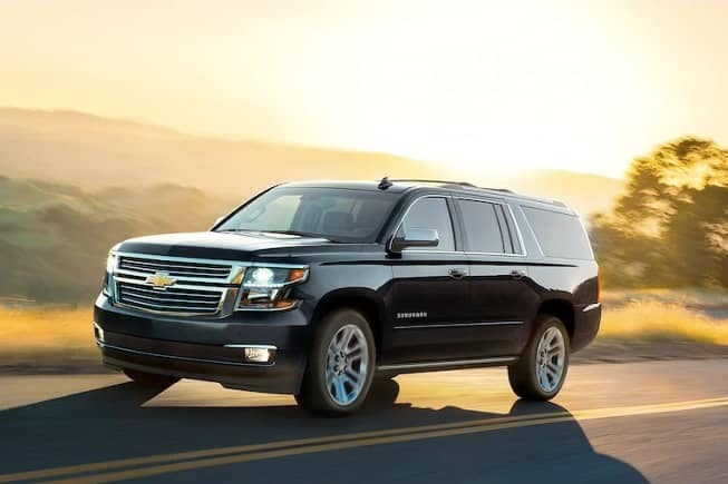 2019 Chevrolet Suburban on road