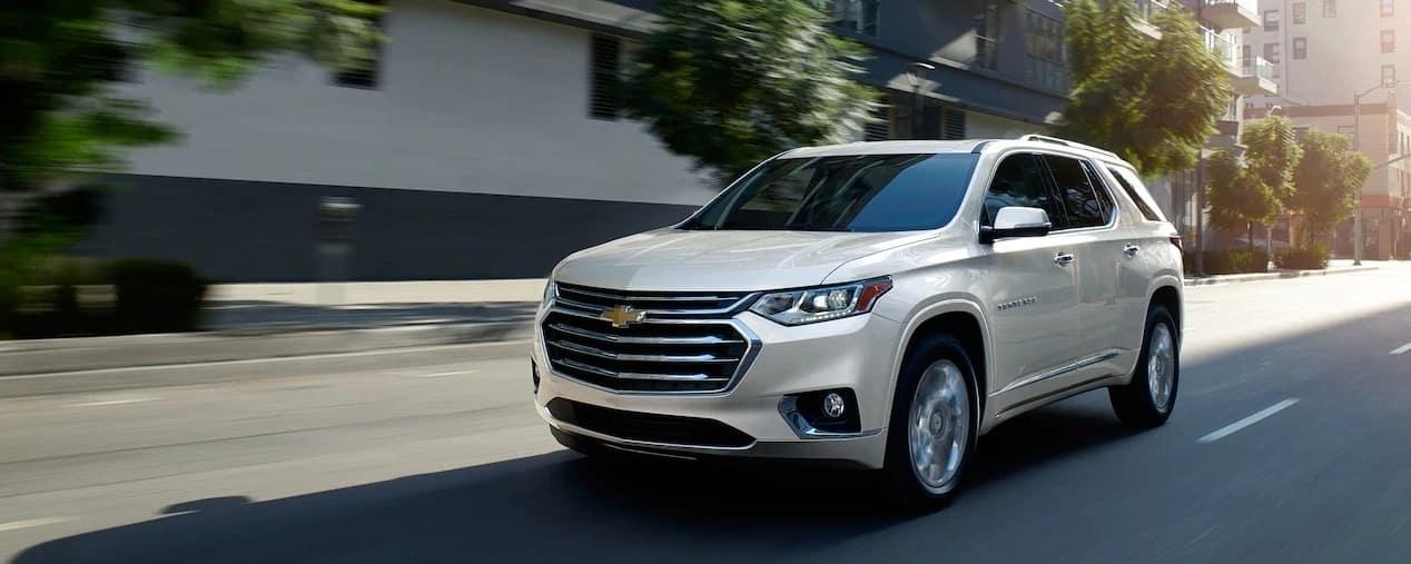 2019 Chevrolet Traverse on street