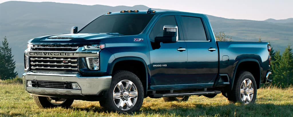 2020 Chevrolet Silverado HD in a pleasant meadow