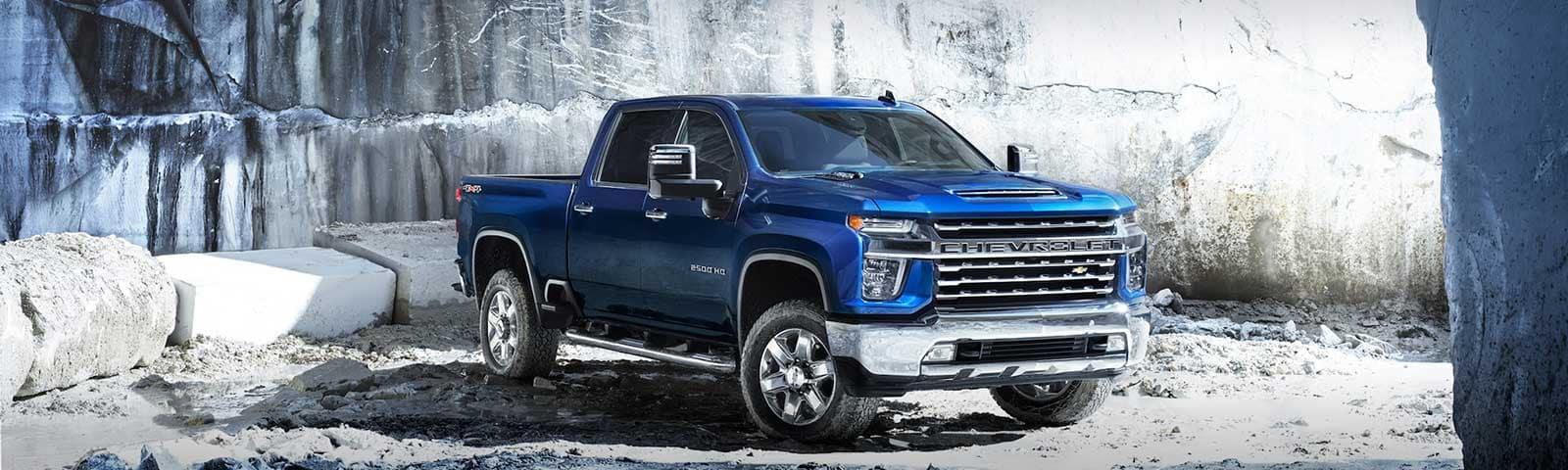 2020 Chevrolet Silverado HD in a winter scene