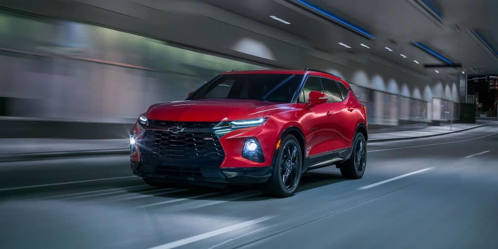 2020 Chevy Blazer in tunnel