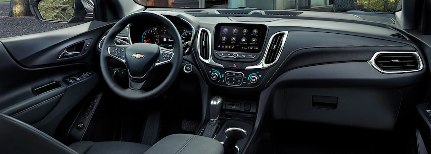 2020 chevy equinox black interior dashboard close up