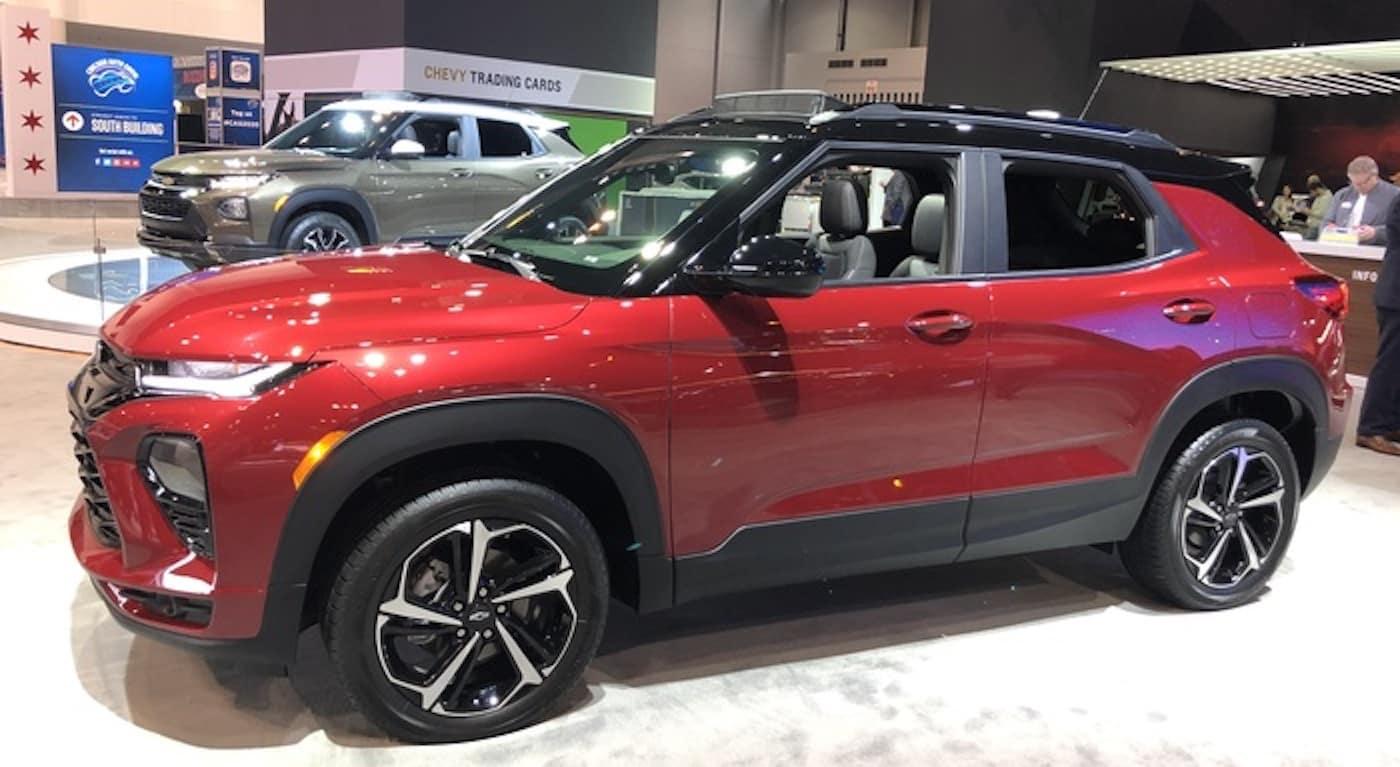 2021 chevrolet trailblazer red exterior chicago auto show