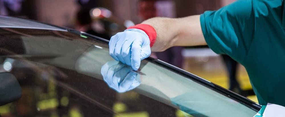 sticker on windshield