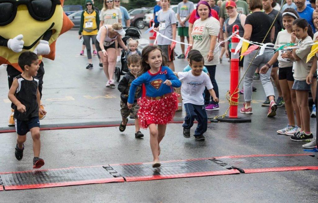Kids participate in our 2016 Sunrise Shuffle