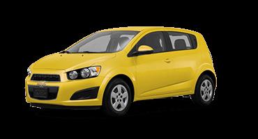 Yellow Chevrolet Sonic