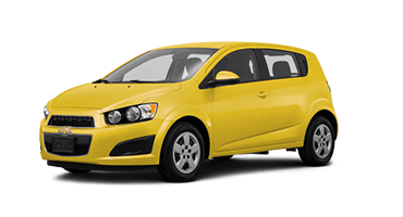 Yellow Chevrolet Sonic