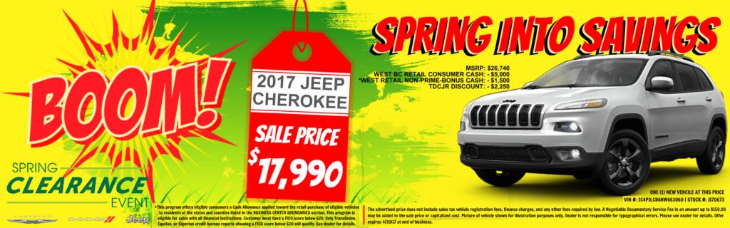 Jeep Cherokee on sale at Tacoma Dodge, WA