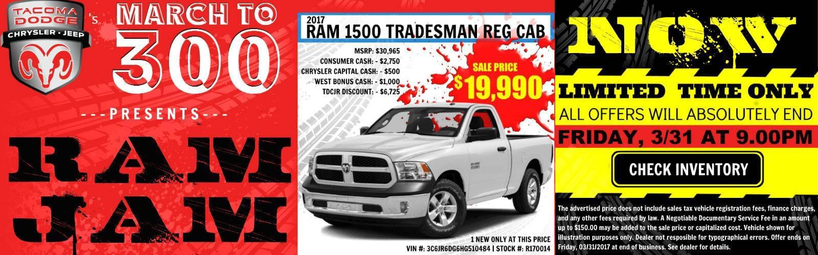 Ram Jam Sale