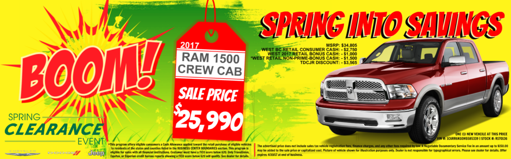 Ram 1500 Crew Cab on Sale at Tacoma Dodge, WA