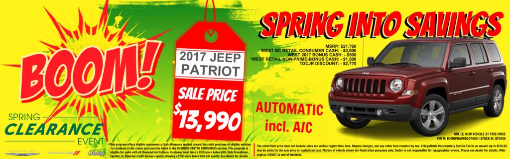 Jeep Patriot on sale at Tacoma Dodge, WA