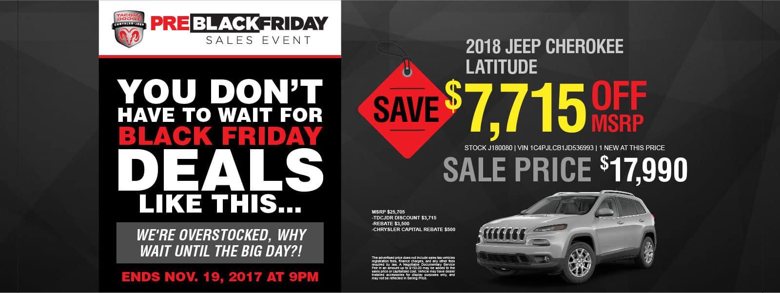 Pre-Black Friday Jeep Cherokee