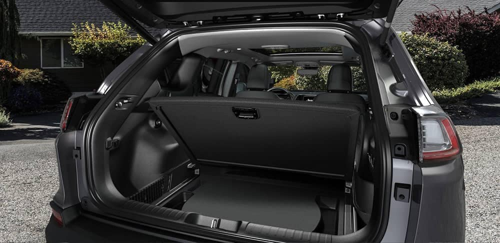 2019 Jeep Cherokee Interior Opened Trunk View