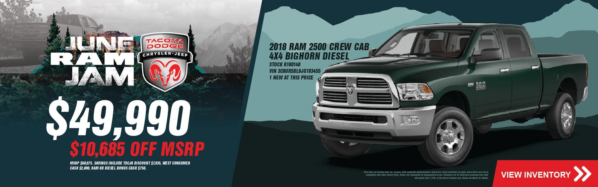 Dodge Dealer in Tacoma, WA | Tacoma Dodge Chrysler Jeep Ram