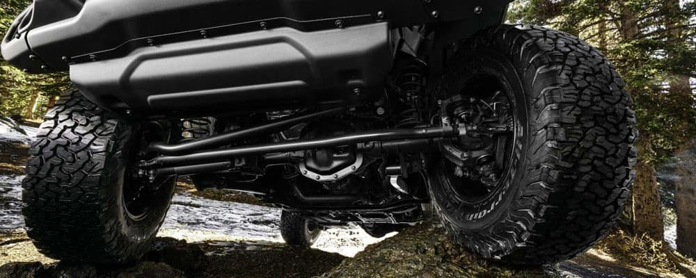 Jeep Heavy Duty Axles Under Carriage View