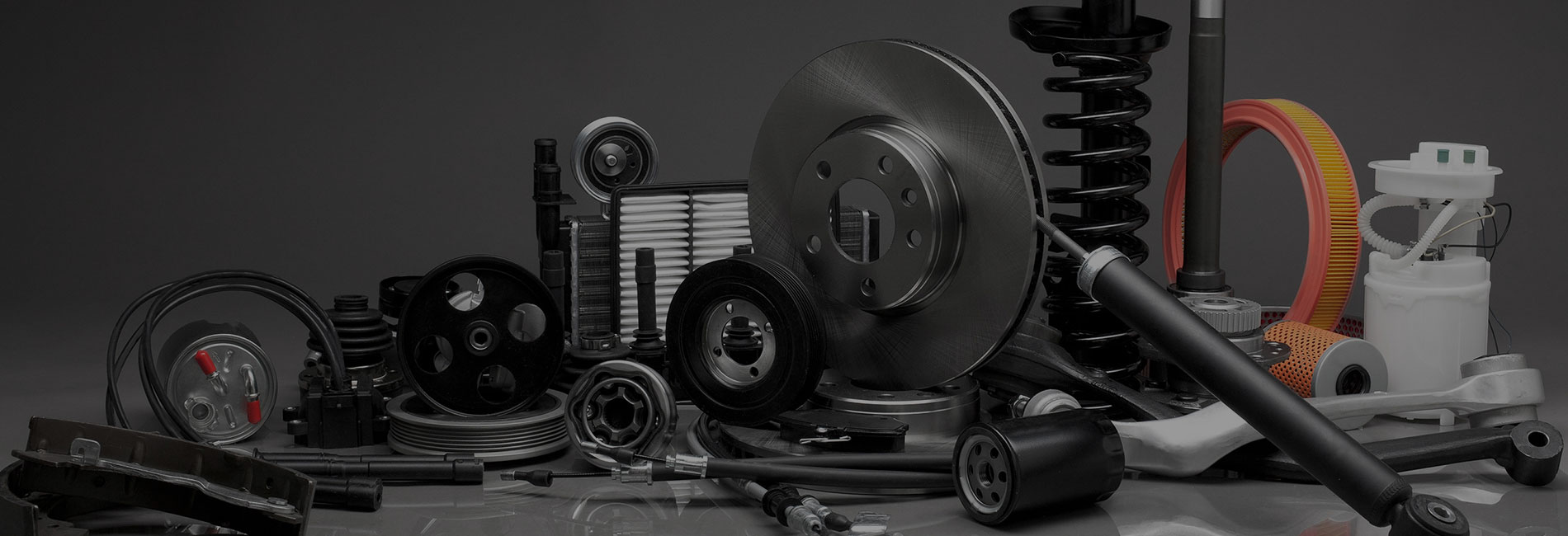 A variety of auto parts