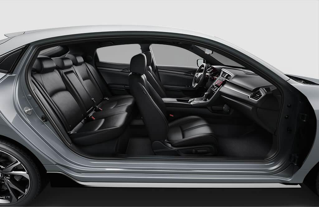 explore the stylish comfortable honda civic hatchback interior