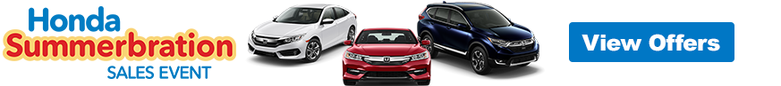 Honda Summerbrations Sales Event Slider