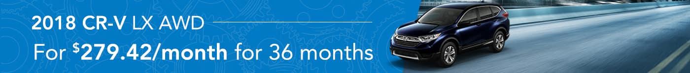 CR-V January Offer Tamaroff Honda
