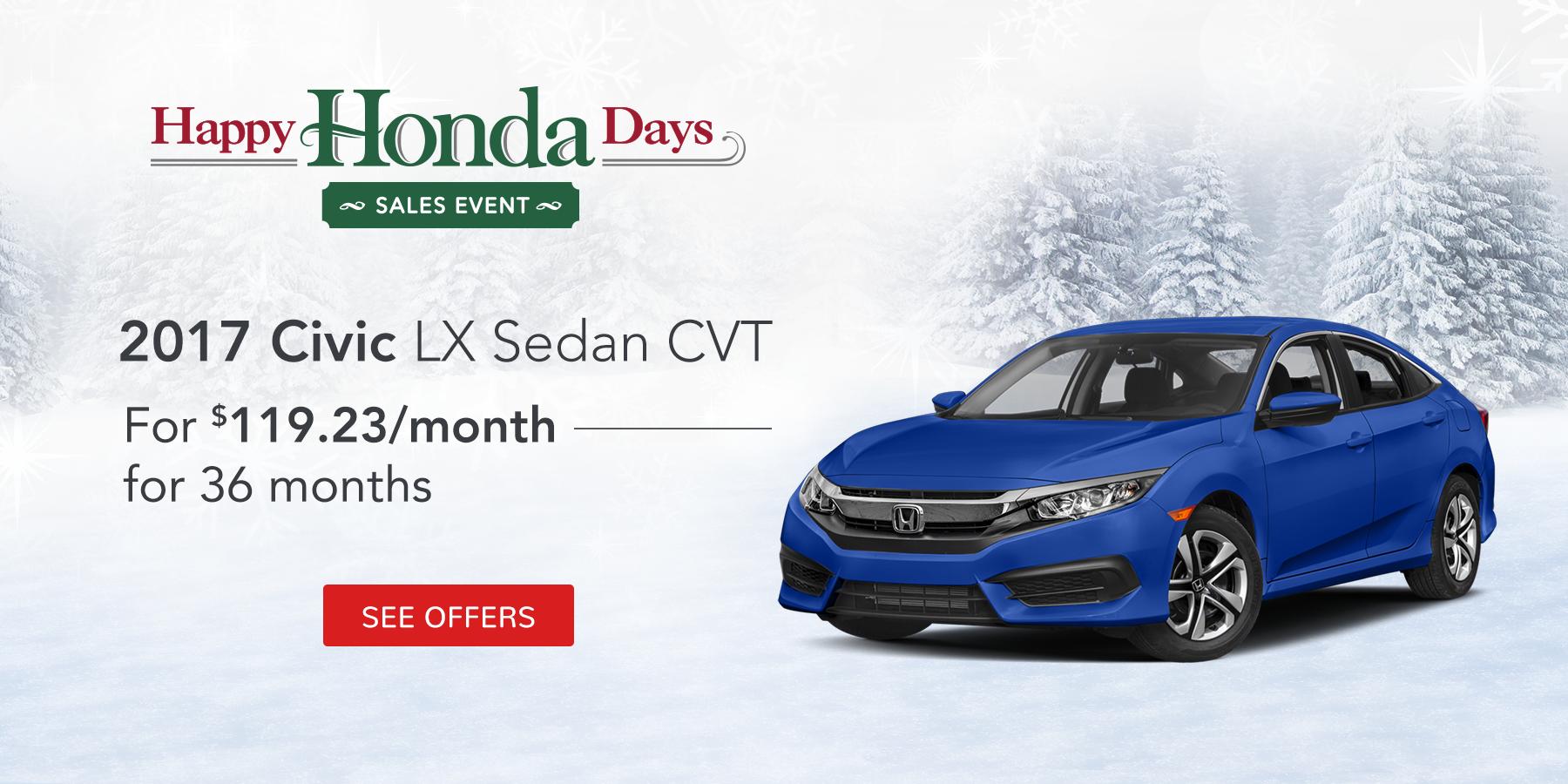 Civic LX November Offer Tamaroff Honda