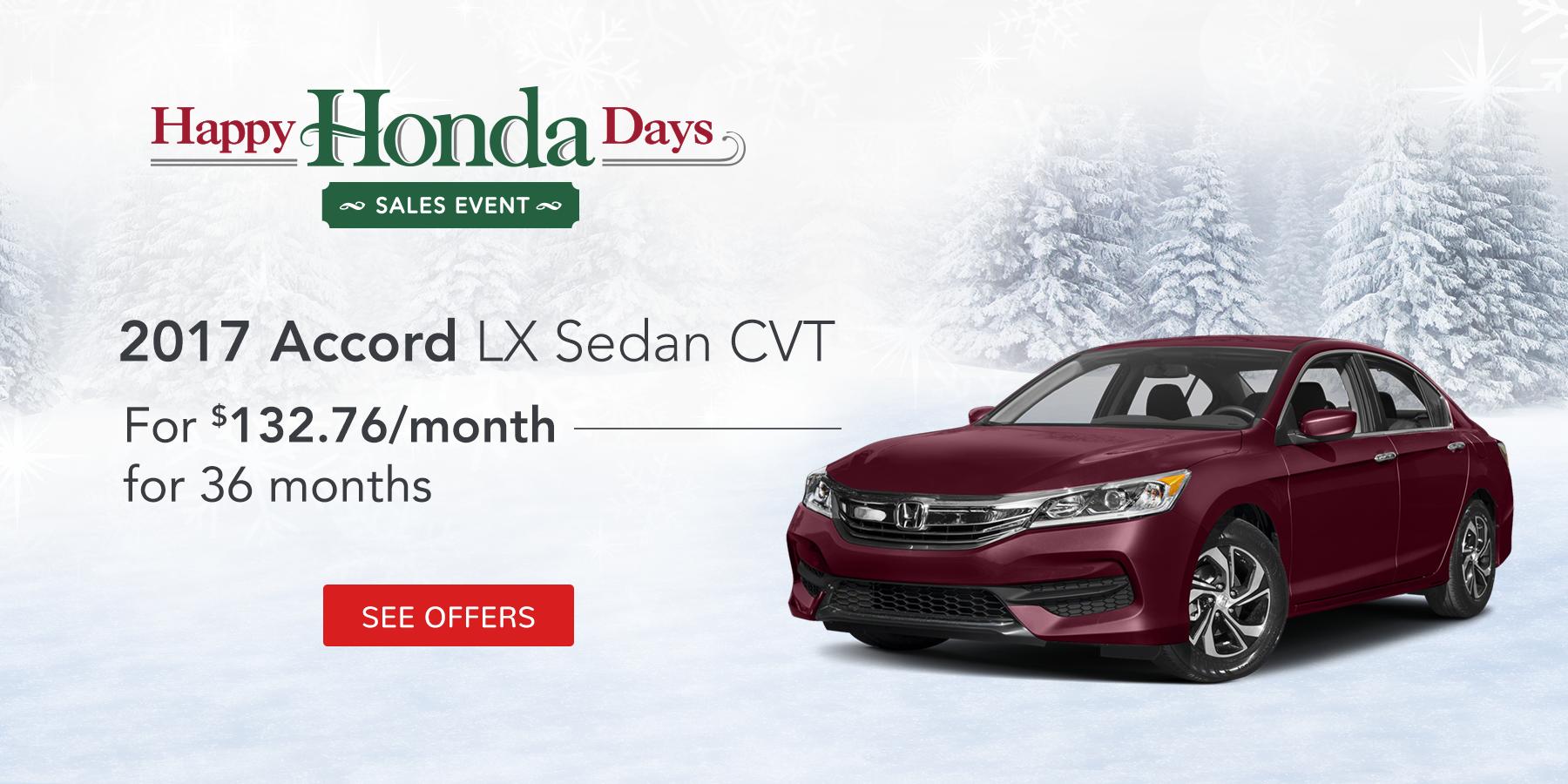 Accord LX November Offer Tamaroff Honda