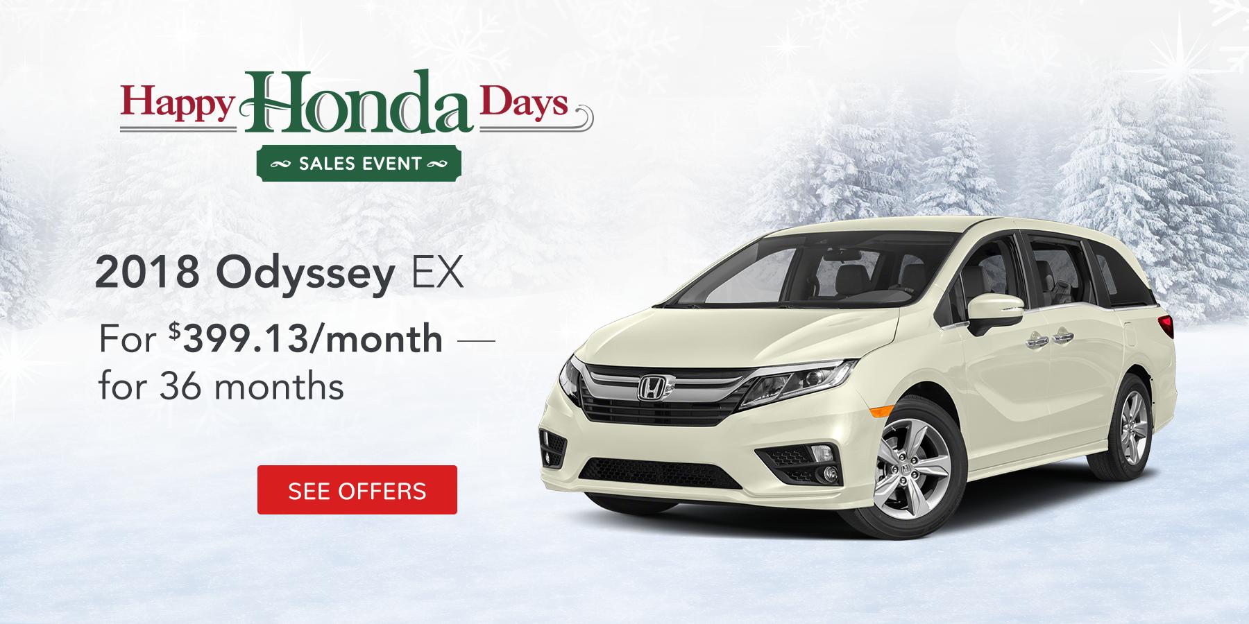 2017 Odyssey November Offer Tamaroff Honda