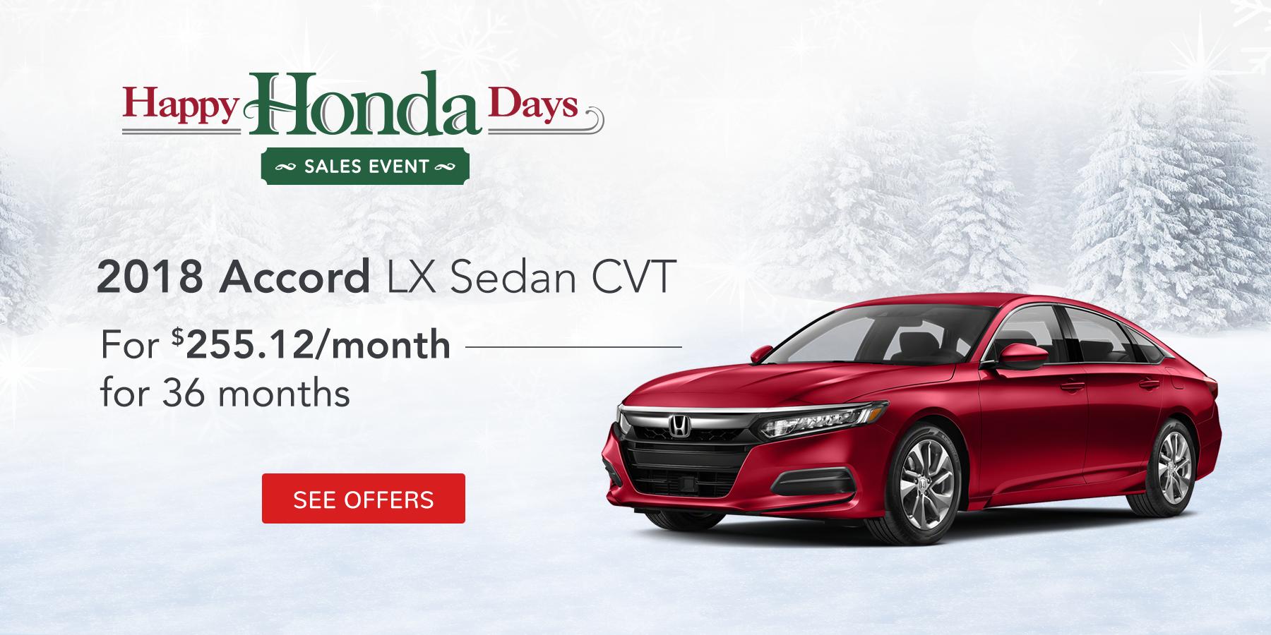 Accord December Offer Tamaroff Honda